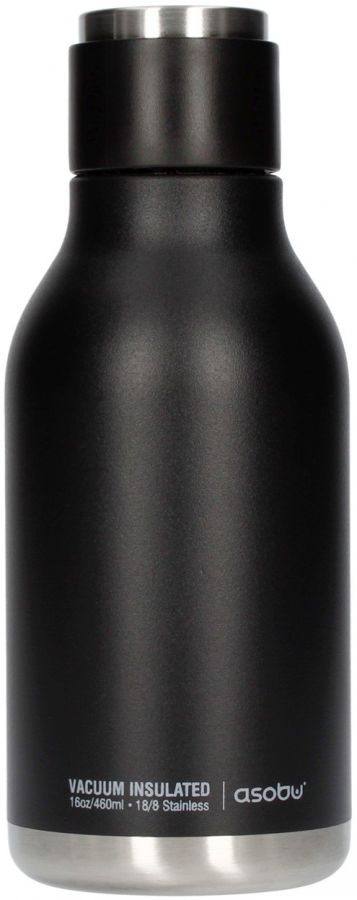 Asobu Urban Water Bottle 460 ml, Black