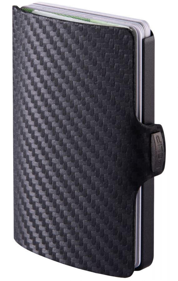 I-CLIP Carbon Fiber Leather Wallet