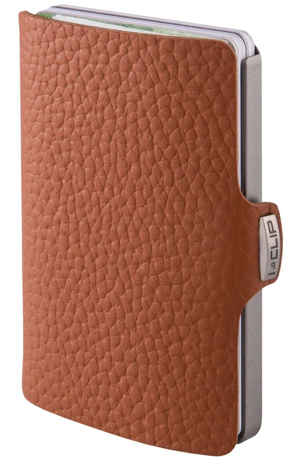 I-CLIP Pilot Leather Wallet, Nutshell