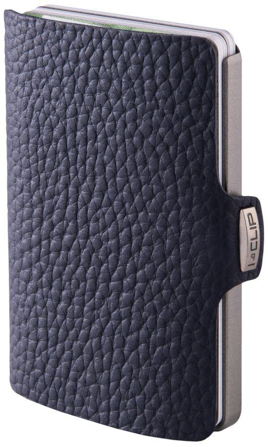 I-CLIP Pilot Leather Wallet, Navy Blue