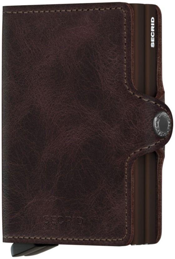 Secrid Twinwallet Leather Wallet, Vintage Chocolate