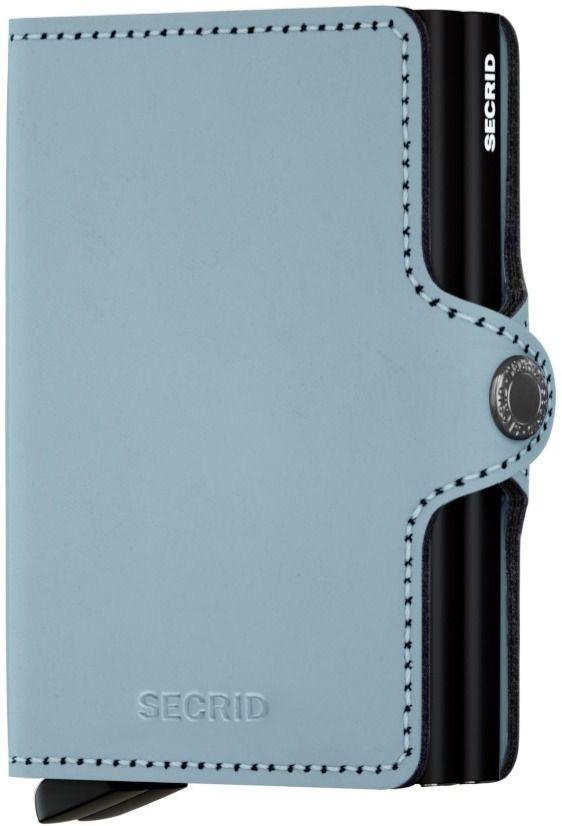 Secrid Twinwallet Leather Wallet, Matte Blue
