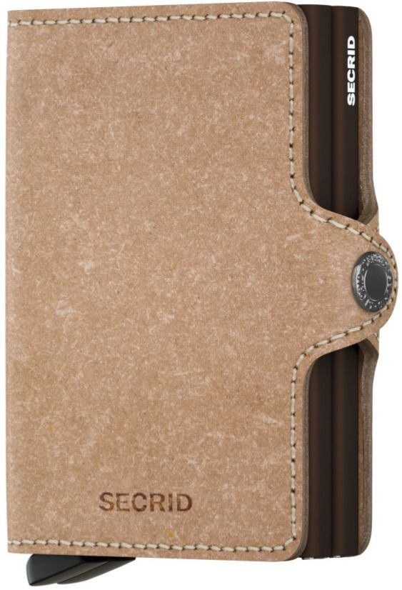 Secrid Twinwallet Leather Wallet, Recycled Natural