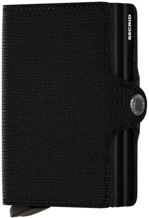 Secrid Twinwallet Leather Wallet, Crisple Black