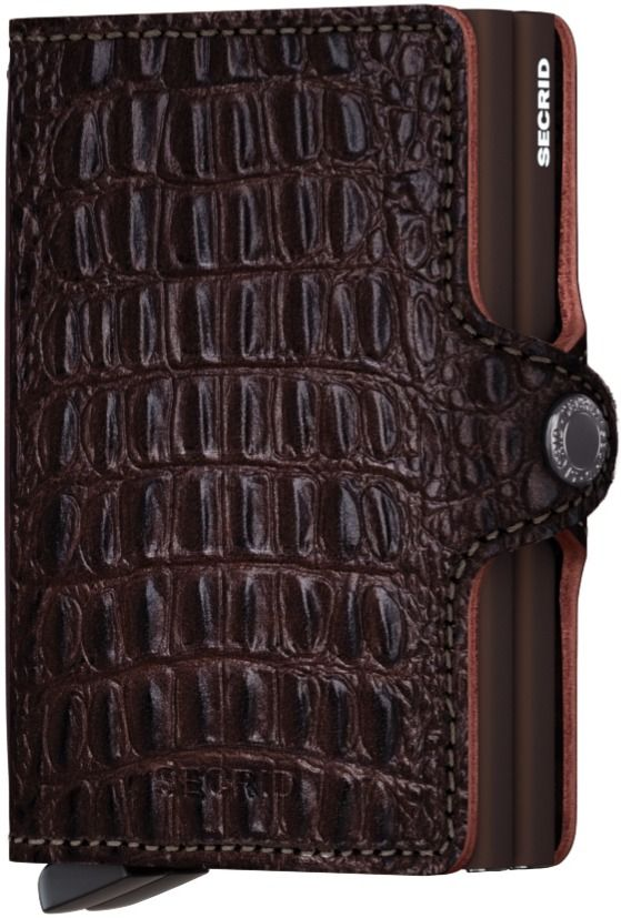 Secrid Twinwallet Leather Wallet, Nile Brown