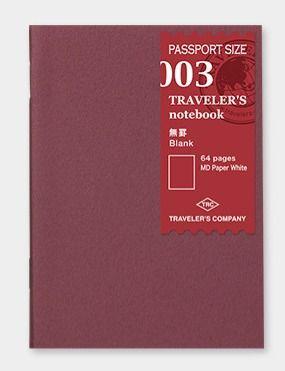 Traveler's Notebook Blank Refill MD Passport Size