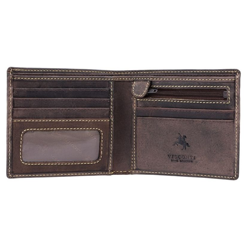 Visconti Shield RFID Blocking Wallet, Oil Brown