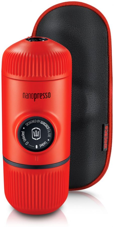 Wacaco Nanopresso Elements Lava Red - Portable Espresso Maker + Protective Case