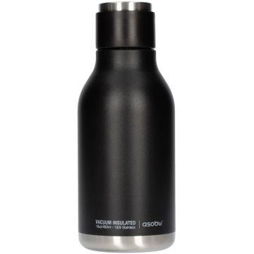 Asobu Urban Water Bottle teräksinen juomapullo 460 ml, musta