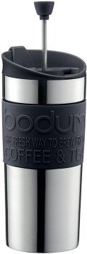 Bodum Travel Press matkamuki pressotoiminnolla 350 ml, musta