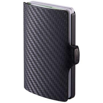 I-CLIP Carbon Fiber Black Leather Wallet