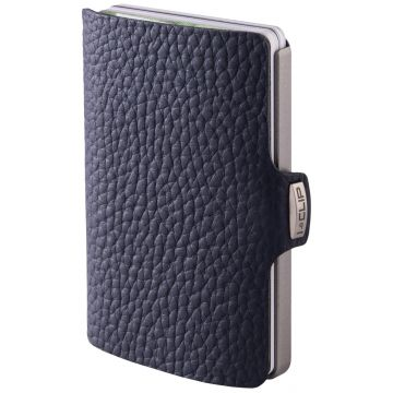 I-CLIP Pilot Leather Wallet, Navy Blue