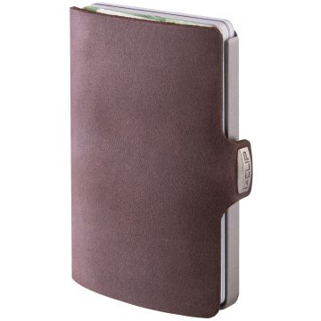 I-CLIP Soft Touch Leather Wallet, Brown