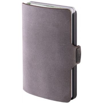 I-Clip Soft Touch Leather Wallet, Slate