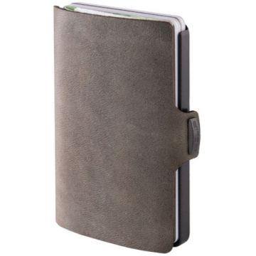 I-Clip Soft Touch Leather Wallet, Olive