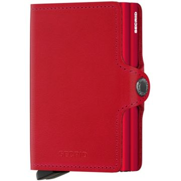 Secrid Twinwallet Leather Wallet, Original Red-Red