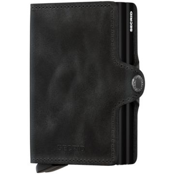 Secrid Twinwallet Leather Wallet, Vintage Black