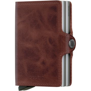 Secrid Twinwallet Leather Wallet, Vintage Brown