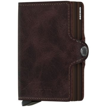 Secrid Twinwallet Leather Wallet, Vintage Chocolate