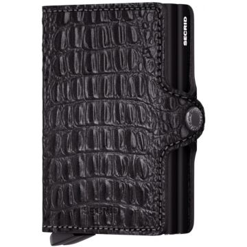 Secrid Twinwallet Leather Wallet, Nile Black