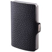 I-CLIP Pilot Leather Wallet, Black