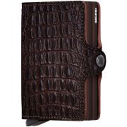 Secrid Twinwallet Leather Wallet, Nile Brown