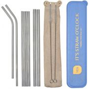VESI Stainless Steel Straw 8 pcs, By The Sea